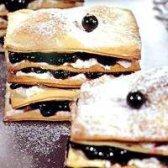 Як приготувати тістечка з чорничним кремом
