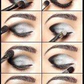 Срібний макіяж