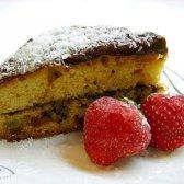 Пиріг з родзинками і кремом