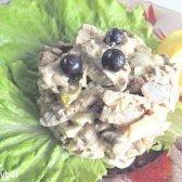 Салат з курячою печінкою і печерицями