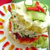 Листковий овочевий салат