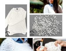 Декоруємо светр намистинами