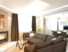 Дизайн і інтер'єр вітальні кімнати в квартирі