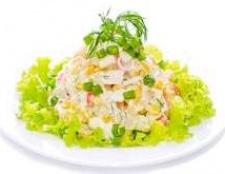 Салат із крабових паличок